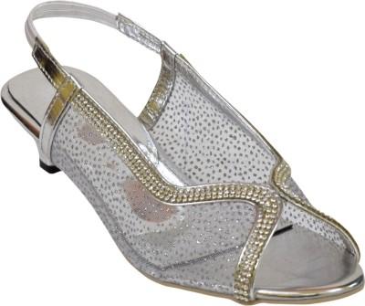 Stepee Women Silver Heels