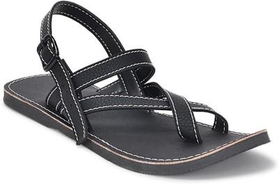 Paduki Ethnic Footwear Men Black Sandals