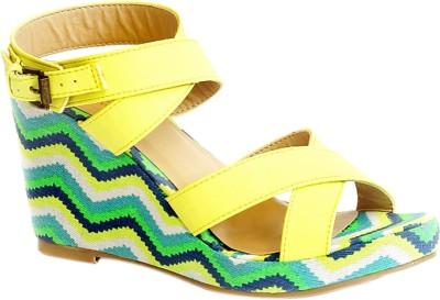 Kanabis Women Yellow Wedges