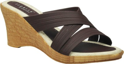 Florish Women Brown Wedges