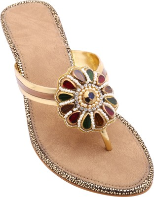 Royal Collection Women Gold Heels