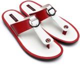 Gressum Men White Red Sandals