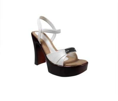 Lily Women White Heels