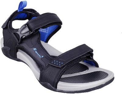F sports Men Black, Blue Sandals