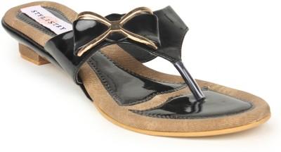 Stylistry Black Colour Flats Women Black Flats