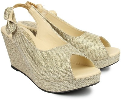 Demyra Women Gold Wedges
