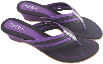 Mod-Inn Women Purple Wedges