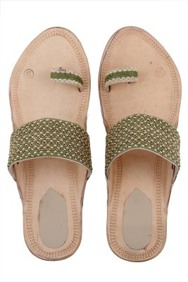 Tripssy Women Natural, Green Heels