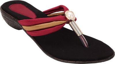 Royal Collection Women Maroon Wedges