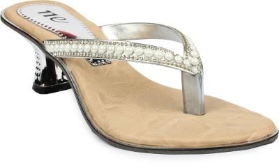 11e Women Silver Heels