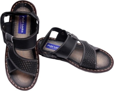 Footlooks Men Black Sandals