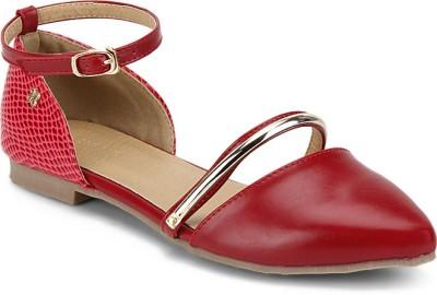 Addons Women Red Flats