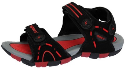 Sparx Boys Black, Red Sandals