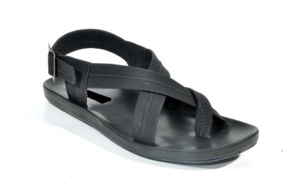 Kohinoor Stylish Black Men Black Sandals