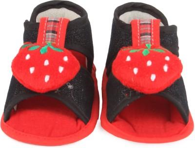 Instabuyz Baby Girls, Baby Boys Black Sandals