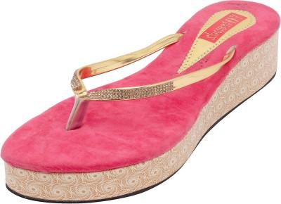 Footrendz Women Pink Wedges