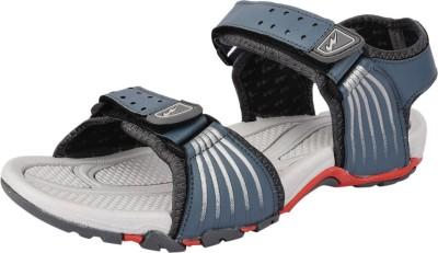 Campus Men Grey, Silver Sandals