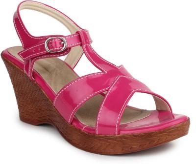 DJH Women Pink Wedges