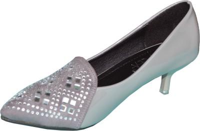 Ladela Women Grey Heels at flipkart