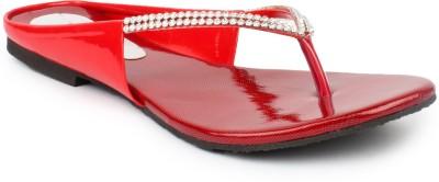 11e Women Red Flats