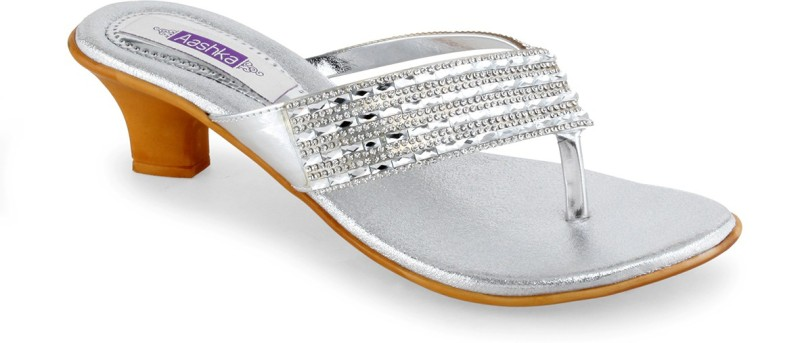 Aashka Women Silver Heels SNDEDKKWZGB2F2WU