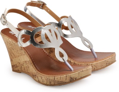 Nell Women Silver Wedges