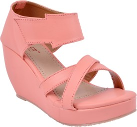 Space Women Pink Wedges
