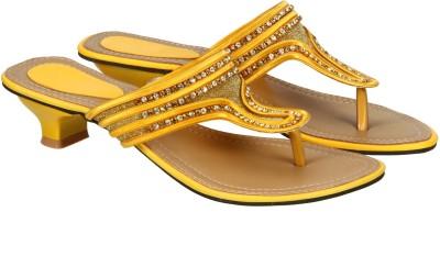Edge Plus Women Yellow Heels