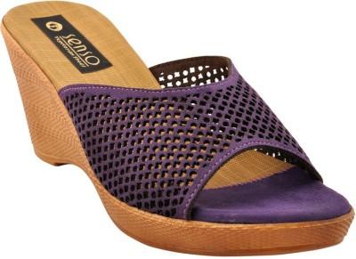 Senso Vegetarian Shoes Women Purple Wedges