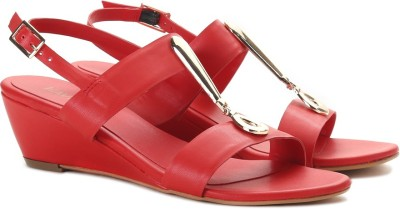 Lavie Women Red Wedges at flipkart