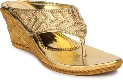 DJH Women Gold Wedges