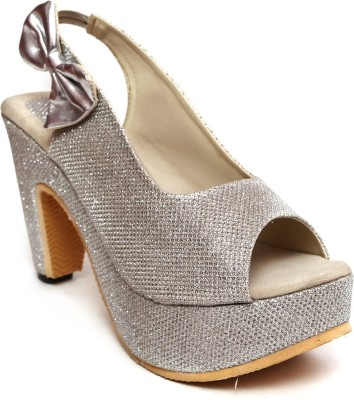 Laila Collection Women Silver Heels