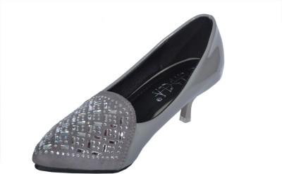 Ladela Women Silver Heels at flipkart