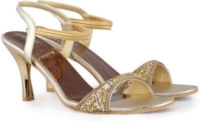 Touristor Women Gold Heels