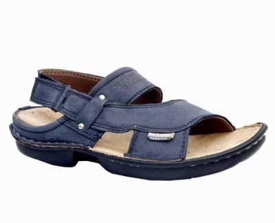 Leather Soft Men Blue Sandals