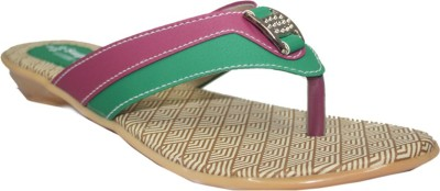 Supreme Leather Girls, Women Green Flats