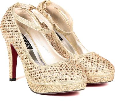TEN Women Gold Heels