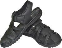 Human Steps Men Black Sandals