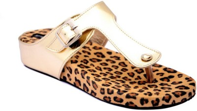 Steady walk Girls Gold Wedges