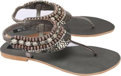 Rocia Women Silver Flats