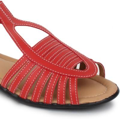 Do Bhai Km-507 Women Red Flats
