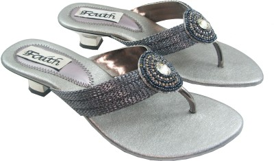 Faith 100105 Women Silver Heels
