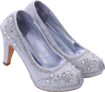 Shuvs Women Silver Heels