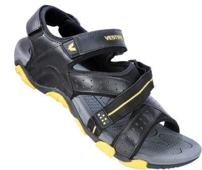 Vestire Men Black, Yellow Sandals
