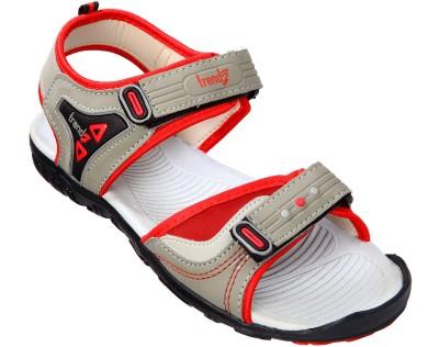 VKC Trendz Men Grey, Red Sandals