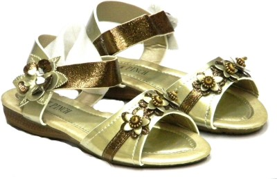 New Pinch Stylish Party Girls Gold Flats