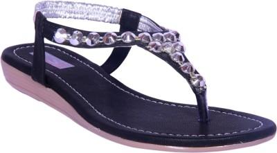 Foot Step Women Black, Black Flats