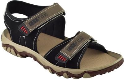 Elvace Men Black Sandals
