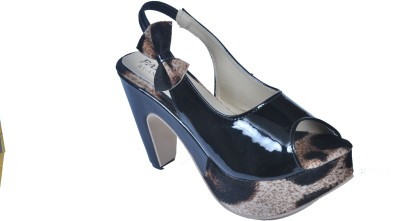 Monash Creations Girls Black Heels
