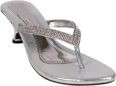 Footshez Women Silver Flats
